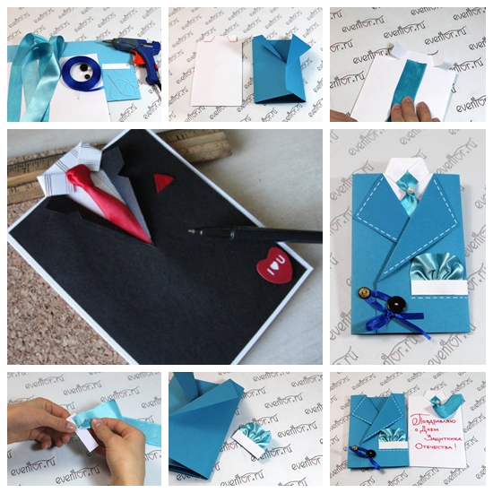 Wonderful DIY Suit And Tie Card For Father39s Day