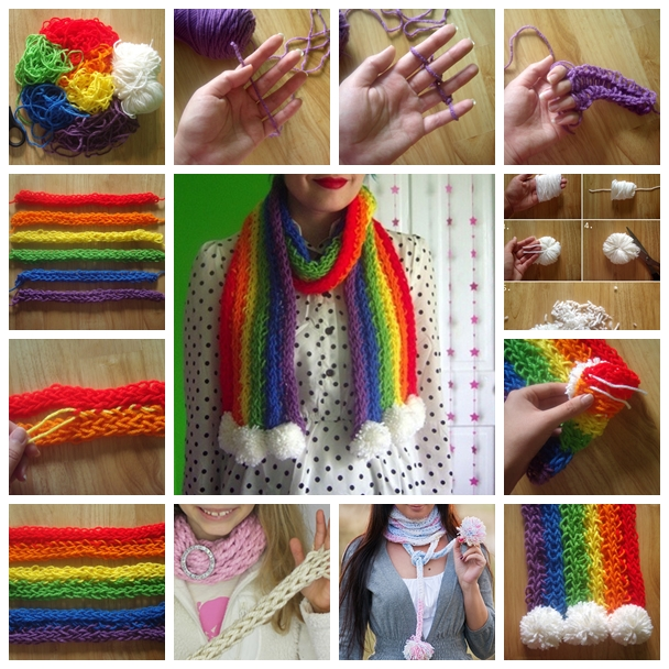 Finger Knitting Scarves You Can Join