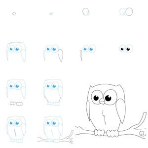 easy drawing animal draw idea owl wonderful figures wonderfuldiy fun owl2