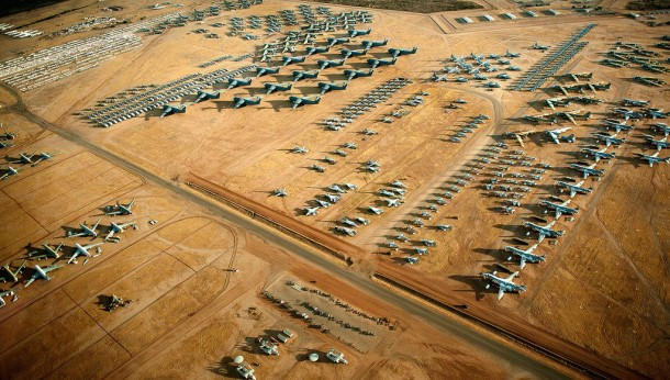 Boneyard of airplanes