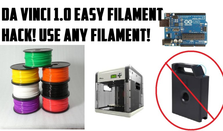 How To Reset The Da Vinci 1.0 Filament Counter Using An Arduino