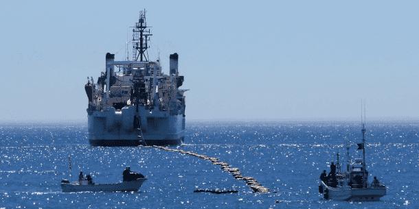 Cable landing at Minami-boso city, Chiba, Japan. Credits: NEC