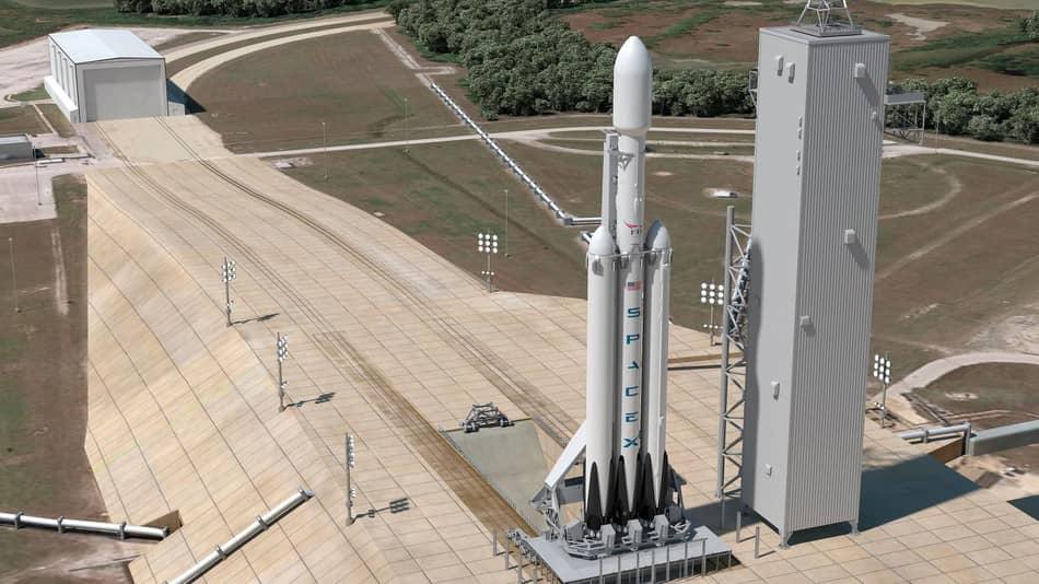 Falcon Heavy test