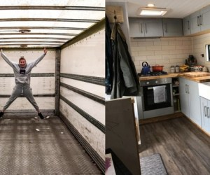 truck turned into home
