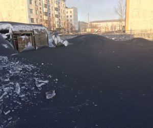 Russia Experienced Black Snow This Season Thanks To Pollution!