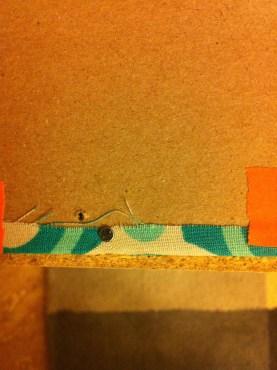 Nailing fabric to backs