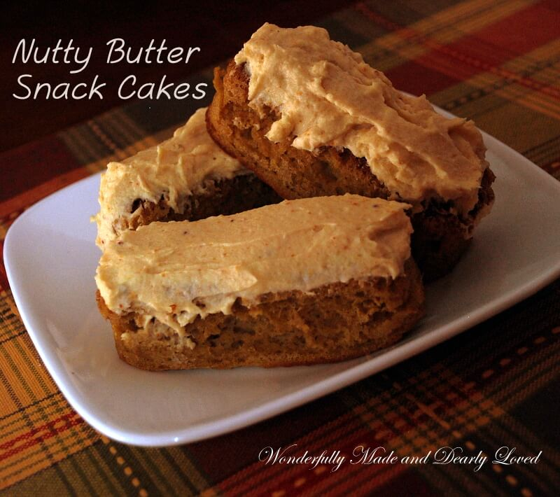Nutty Butter Snack Cakes, Sugar Free, Gluten Free, THM Friendly