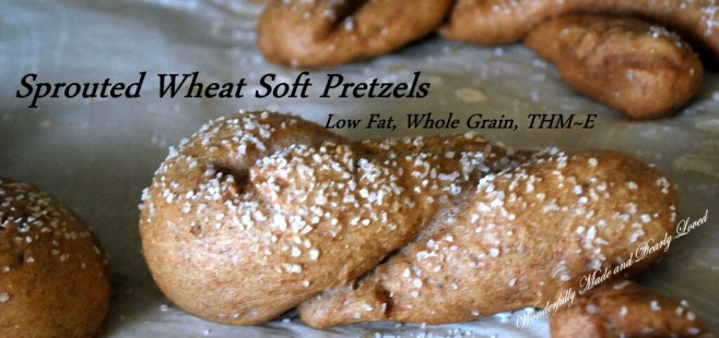 Pretzels made from Sprouted Wheat Dough