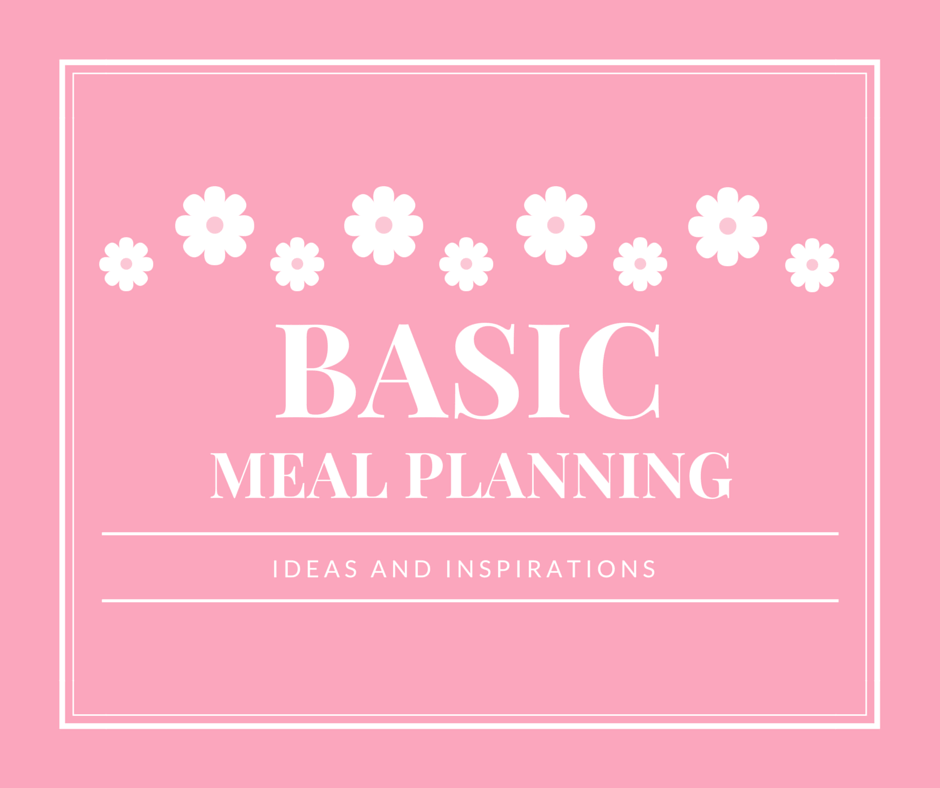Basic Meal Planning