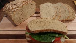 SimpleSoda Bread for Sandwiches (Gluten Free, Sugar Free, THM~S)