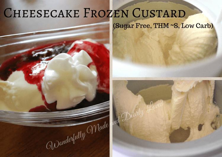 Cheesecake Frozen Custard (Sugar Free, THM~S, Low Carb)