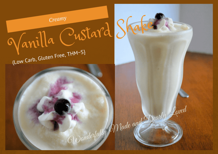Creamy Vanilla Custard Shake (Low Carb, THM (deep)~S)