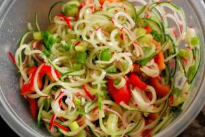Cucumber Radish Slaw (THM FP, Gluten Free, Low Carb)