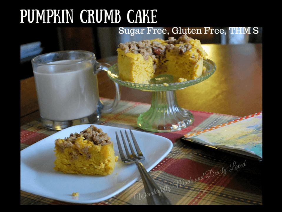 Pumpkin Crumb Cake (Sugar Free, Gluten Free, THM S)