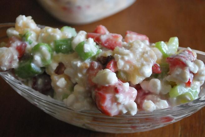 Strawberry Pineapple Salad (THM E, Low Fat)