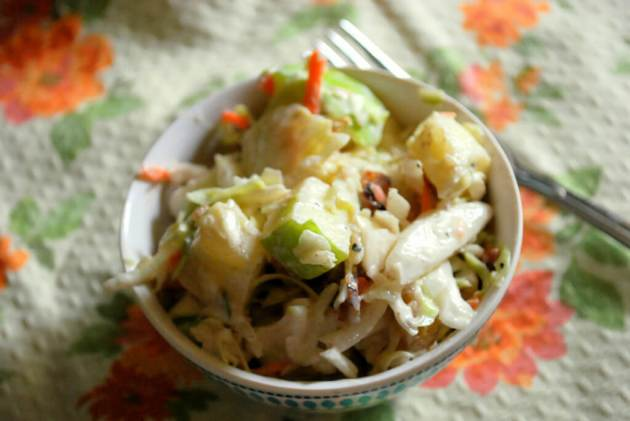 Sugar Free Waldorf Slaw (Low Fat, THM E)