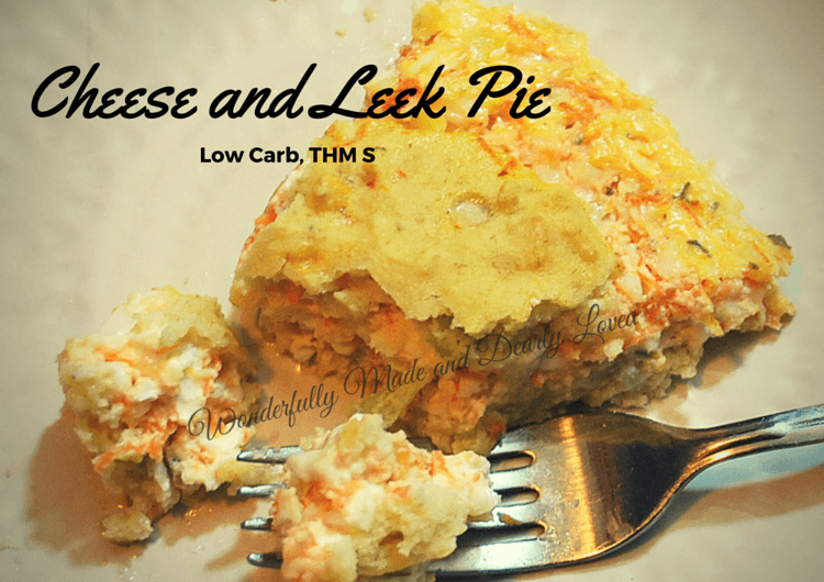 Irish Cheese and Leek Pie (low carb, THM S)