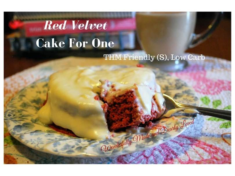This little Red velvet cake is amazing for breakfast or a snack anytime of day!! It is low carb and THM (S) friendly.