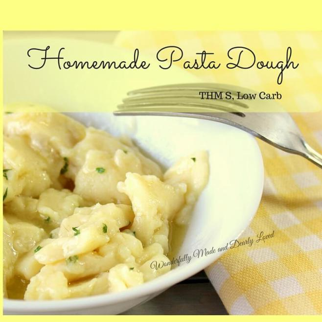 Homemade Pasta Dough (THM S, Low Carb)