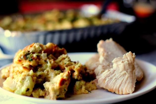 Healthy Baked Stuffing (THM S, Low Carb)
