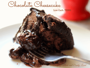 Low Carb Chocolate Cheesecake that is Diabetic friendly.