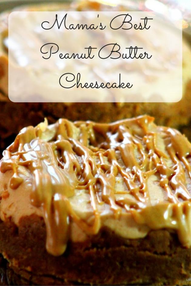 Mama's Best Peanut Butter Cheesecake is and indulgent and impressive dessert to serve your family and guests.