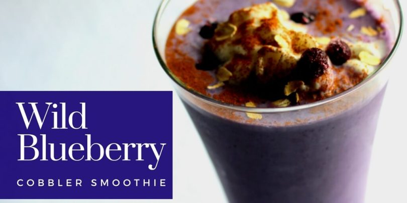Wild Blueberry Cobbler Smoothie (Low Fat, THM E)