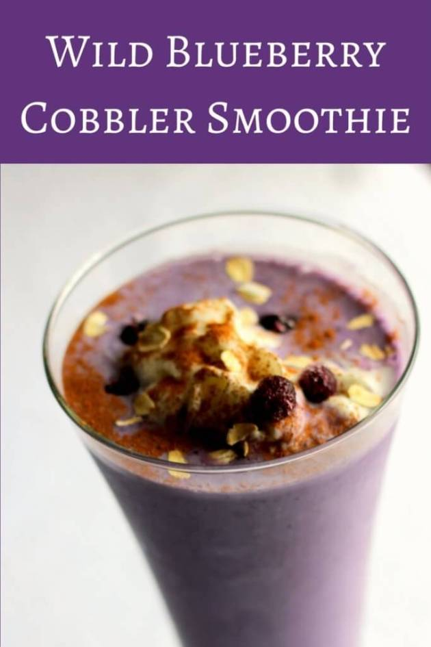 #WildYourSmoothie with this great Wild Blueberry Cobbler Smoothie