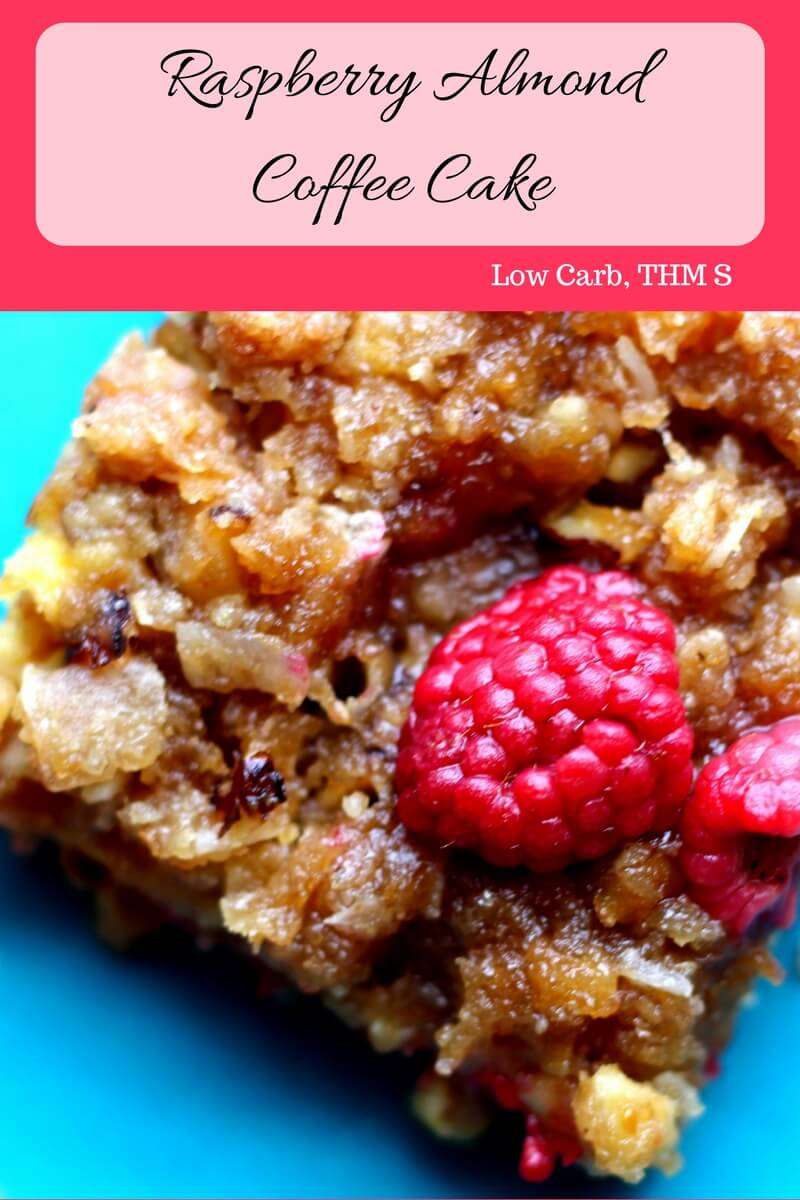 Raspberry Almond Coffee Cake (Low Carb, THM S) made in the Instant Pot