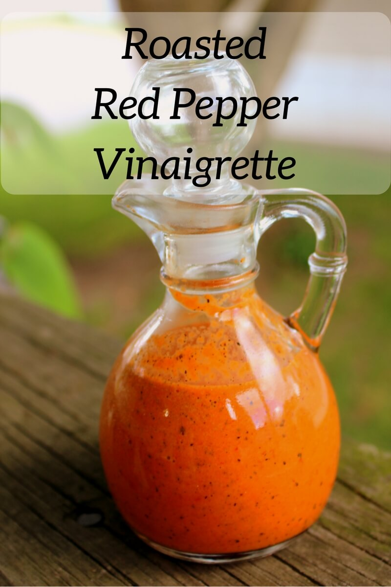 Roasted Red Pepper Vinaigrette (THM, Low Carb) is a wonderful way to dress your favorite salad, meats or vegetables.