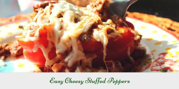 Easy Cheesy Stuffed Peppers (THM S, Low Carb)