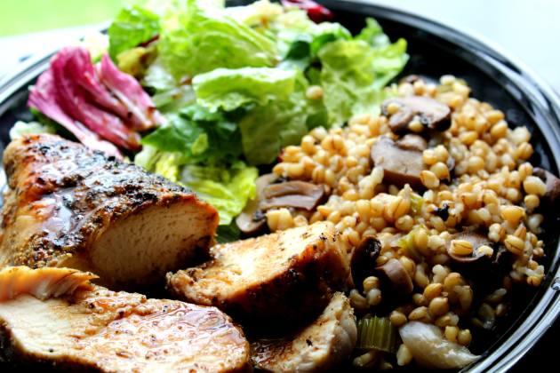 Barley Mushroom Salad (Low Fat, THM E)