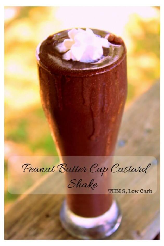 Peanut Butter Cup Custard Shake (THM S, Low Carb)