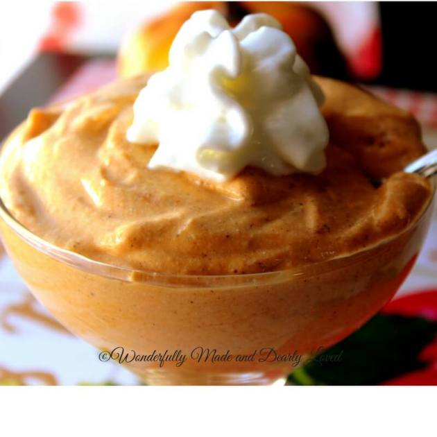 Pumpkin Cottage Whip is a wonderful way to get trim and healthy. It is both low fat and low carb and tastes just like pumpkin pie!