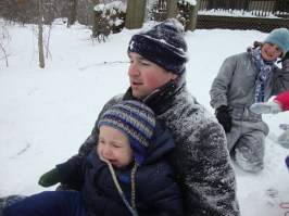 As you can see, Garrett loves sledding