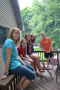 Breanna, Emma, Jody, Autumn and Sopie
