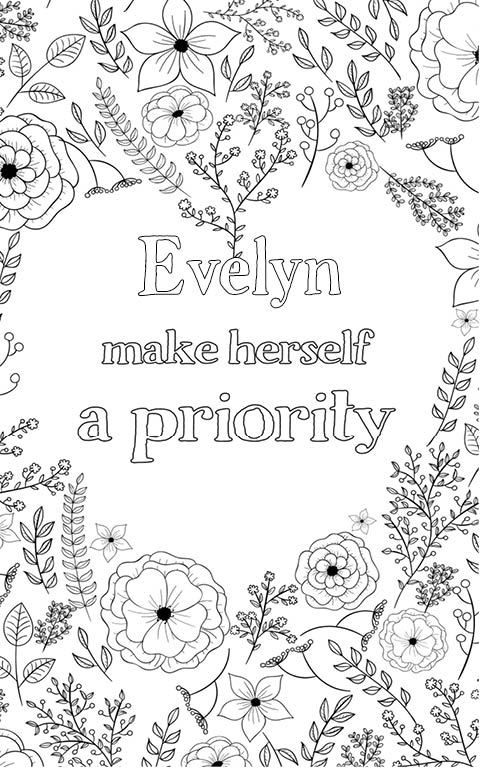 Evelyn is wonderful. The coloringbook personalised with