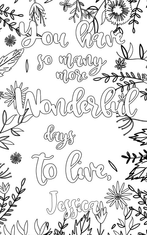 Jessica is wonderful. The coloringbook personalised with
