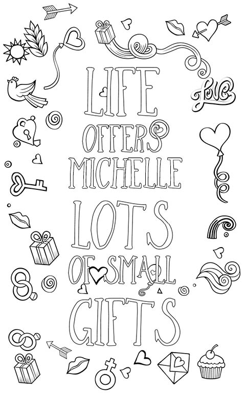Michelle is wonderful. The coloringbook personalised with