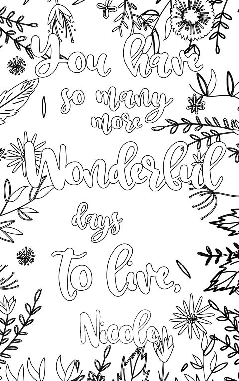 Nicole is wonderful. The coloringbook personalised with