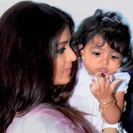 Picture of Aishwarya Bachan with daughter Aradhya.
