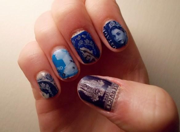 postage stamp nail art wonderfulwolf