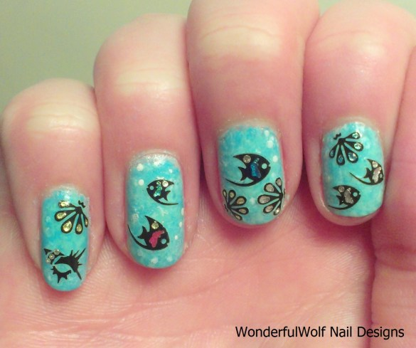 fish nail design wonderfulwolf