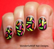 neon nail design wonderfulwolf