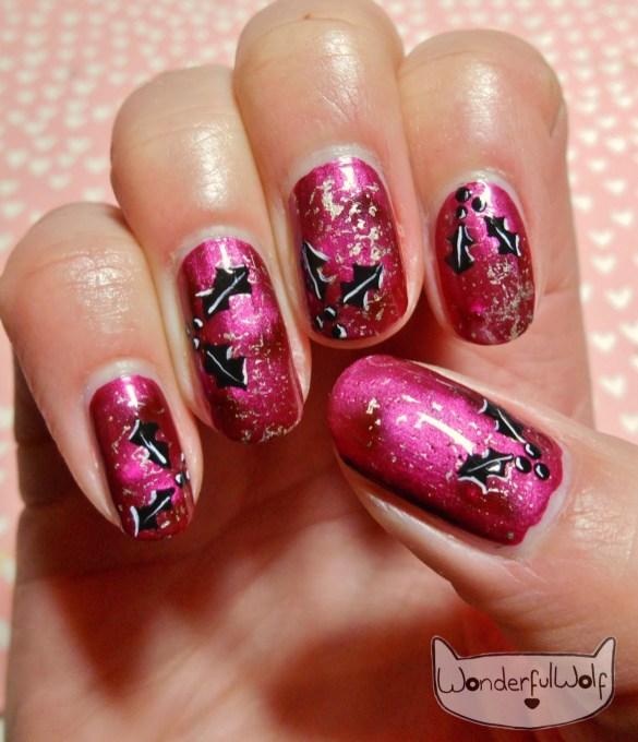 holly nail art wonderfulwolf