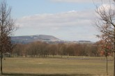The fields of Townley park looking North west, towards Pendle Hill.