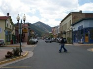 Idaho Springs, Colorado. Town where they filmed final fight scene with the Black Widows in Every Which Way But Loose. From my 2009 Trip!