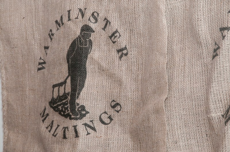 A Warminster maltings malt sack