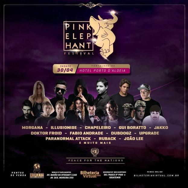 Pink Elephant Festival terá sua primeira edição em Fortaleza
