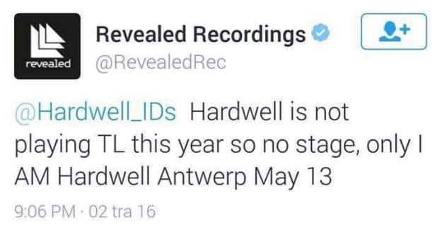 Hardwell não tocará na Tomorrowland Bélgica 2016